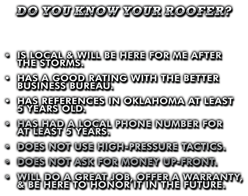 Know Your Roofer