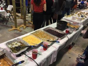 The food prepared by Parker Brothers Roofing